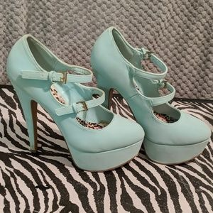 Mint green heels by Body Central